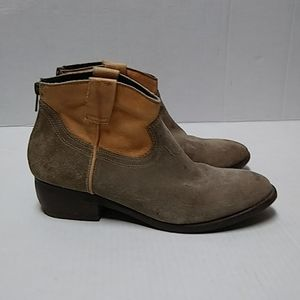 Steve Madden western-style bootie suede leather